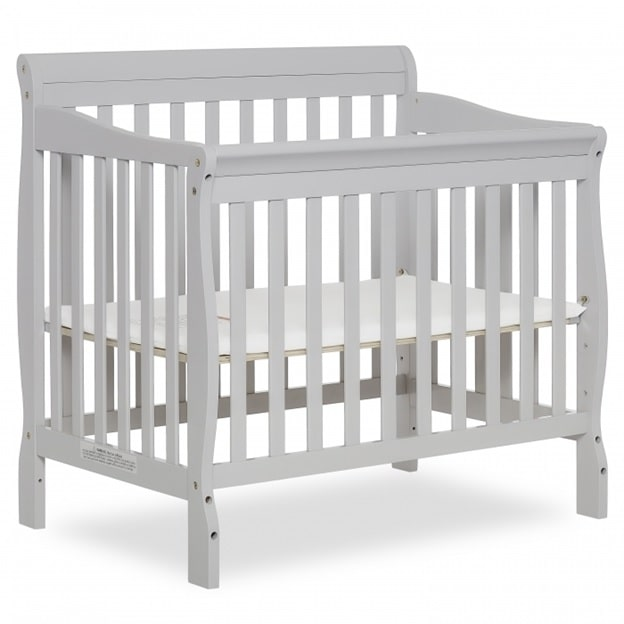 Dream On Me Aden Convertible 4-in-1 Mini Crib with mattress