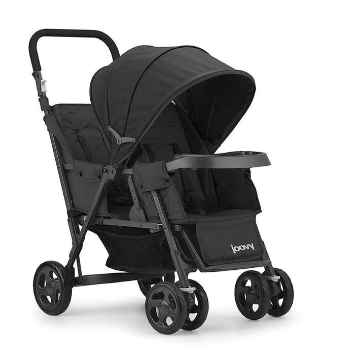 Joovy Caboose Too Graphite Stand On tandem stroller
