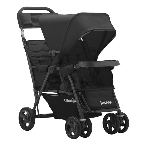 Joovy caboose too Ultralight Graphite Stand on Tandem stroller, Black