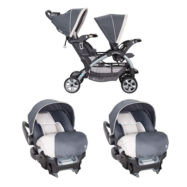 Baby Trend Sit N Stand Easy Fold Toddler Baby Double stroller